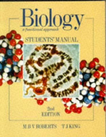 9780174480358: Biology - A Functional Approach Student's Manual 2nd edition: Students' Manual to 4r.e