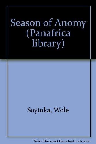 9780175116188: Season of Anomy (Panafrica library)