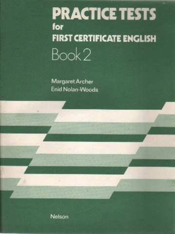 9780175550982: Practice Tests for First Certificate English. book 2