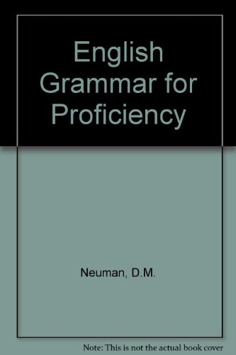 9780175551354: English Grammar for Proficiency