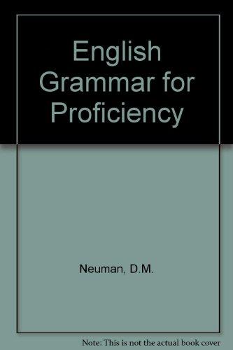 9780175551354: English Grammar For Proficiency