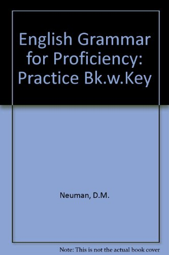 9780175551361: English Grammar For Proficiency - Practice Book