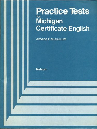 Practice Tests for Michigan Certificate English (0175551383) by George P. McCallum