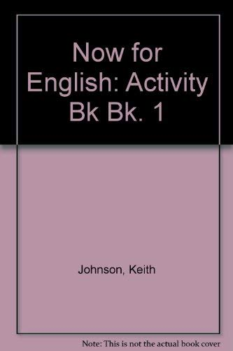 9780175554119: Now for English: Activity Bk Bk. 1