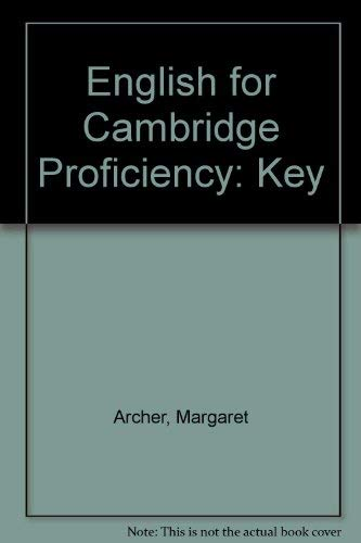 9780175555437: English for Cambridge Proficiency: Key