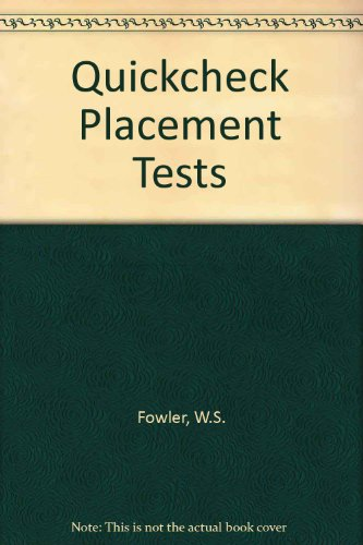 9780175555635: Quickcheck Placement Tests