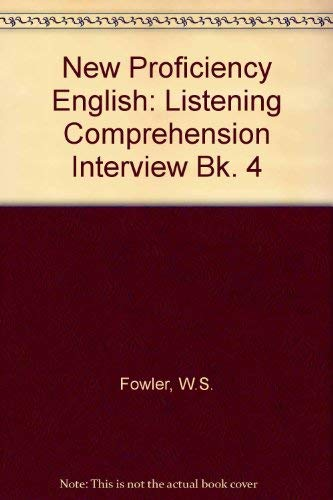 9780175556083: New Proficiency English: Listening Comprehension Interview Bk. 4