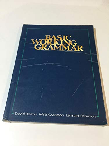 9780175556427: Basic Working Grammar