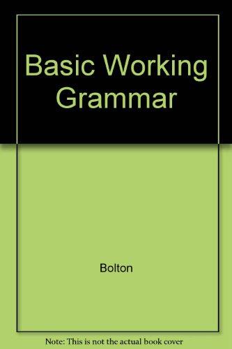 9780175556915: Basic Working Grammar