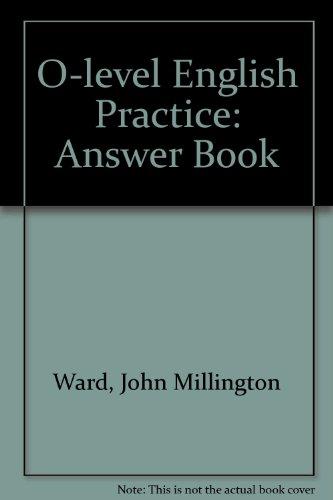 9780175558308: O-level English Practice: Answer Book