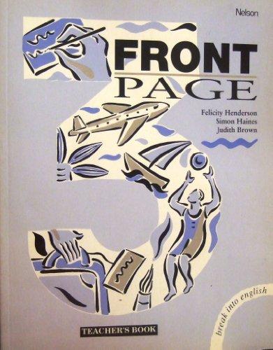 9780175563326: Front Page: Teachers' Book Bk. 3