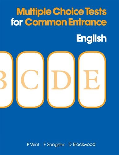 9780175663224: Multiple Choice Tests for Common Entrance - English