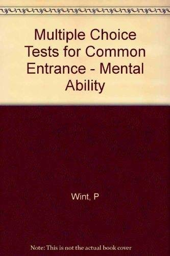 9780175663316: Multiple Choice Tests for Common Entrance - Mental Ability