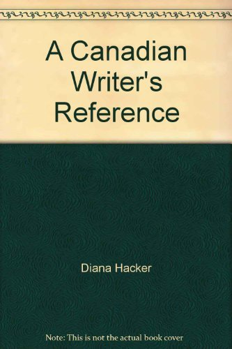 9780176042110: A Canadian Writer's Reference