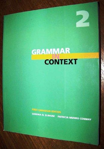 Grammar in Context, Book 2: Sandra Elbaum, Sandra Elbaum, Conway, Patricia M.