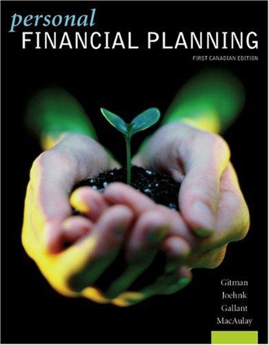 9780176103378: Personal Financial Planning (11th, 08) by Gitman, Lawrence J - Joehnk, Michael D [Hardcover (2007)]