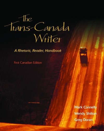 9780176103446: The Trans-Canada Writer , A Rhetoric, Reader, handbook, First Canadian Edition