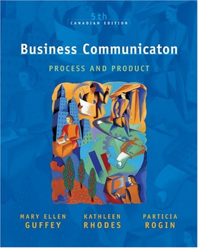 9780176103934: Business Communication: Process and Product