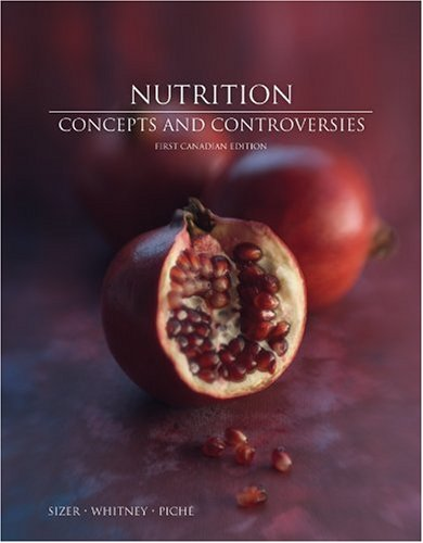 Nutrition 9780176104467 You've heard the phrase,  You are what you eat ? This text gives you a better understanding of the phrase, and hits home the simple but obvious truth. You really are what you eat!  Nutrition Concepts and Controversies  has been a cornerstone in nutrition classes across North America, serving the needs of students and professors in building a healthier future. In keeping with our tradition, in this, the First Canadian Edition, we explore the ever-changing frontier of nutrition science in Canada while maintaining our sense of personal connection with students and instructors alike. We address the learner in a clear, engaging writing, but with a fresh crispness that we hope you enjoy.  Nutrition: Concepts and Controversies  focuses on nutrition principles and their application while offering outstanding coverage of the biological foundations of nutrition without assuming previous knowledge of them. The Canadian edition incorporates Canada's new food guide along with a wealth of Canadian examples, references and updates.