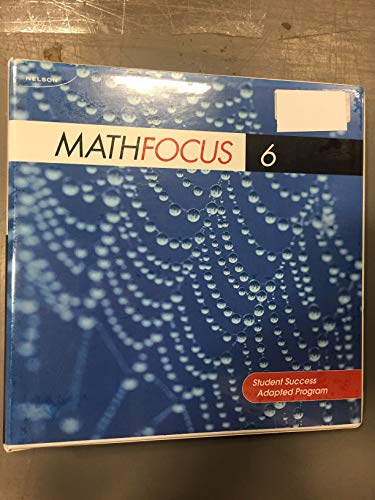 9780176109547: Nelson Math Focus 6 Student Success Adapted Program (Blackline Masters Package)