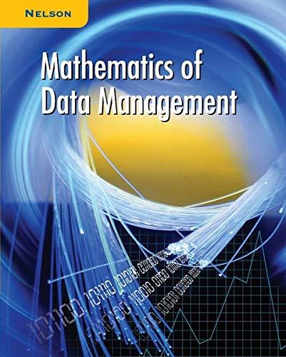 9780176157791: Mathematics of Data Management