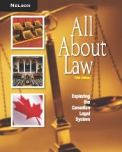 9780176201487: All about Law : Exploring the Canadian Legal System