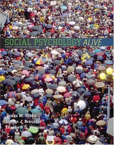 9780176224523: social psychology alive (first canadian edition)