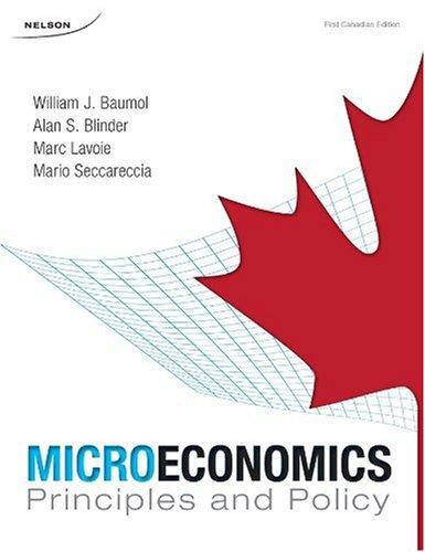 9780176252540: CDN ED Microeconomics: Principles & Policy