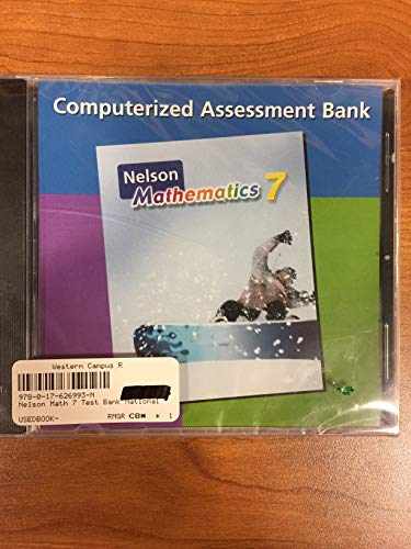 9780176269937: Nelson Mathematics Grade 7 Test Bank