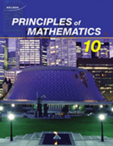 9780176332020: Nelson Principles of Mathematics 10: Student Text