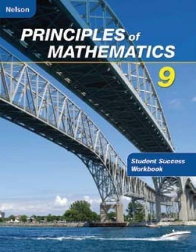 9780176340193: Nelson Principles of Mathematics 9: Student Success Workbook