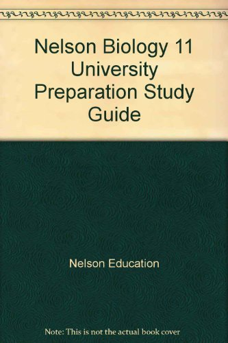 9780176390327: Nelson Biology 11 University Preparation Study Guide