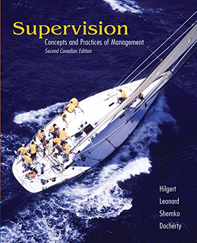 9780176406035: CDN ED Supervision: Concepts & Practices of Management