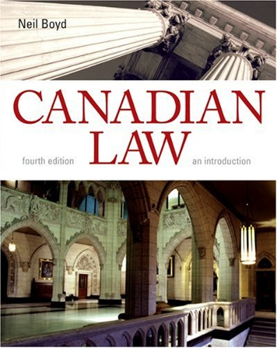 9780176407162: Canadian Law: An Introduction