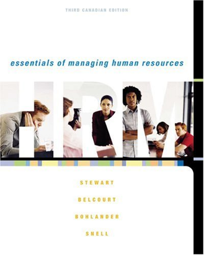 9780176407230: Essentials of Managing Human Resources