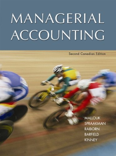 9780176407285: Managerial Accounting Student Solution Manual: Student Solution Manual, 2nd Canadian Edition
