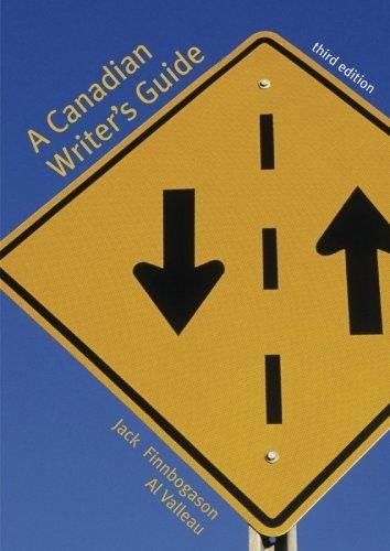 Canadian Writer's Guide Student Workbook: Finnbogason, Jack, Valleau, Al