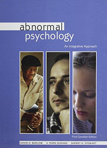 9780176416300: Abnormal Psychology: An Integrative Approach : First Edition