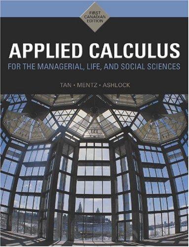 9780176441852: Appl Calculus Mana Life Socsci: 0