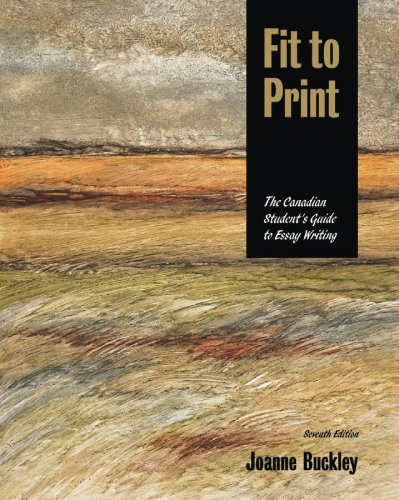 Fit to Print, the Canadian Student's Guide: Joanne Buckley