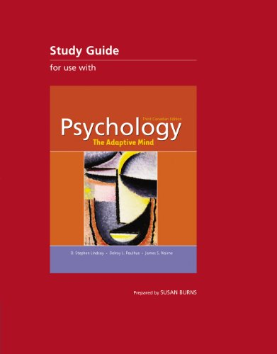 Psychology: the Adaptive Mind Study Guide: unknown