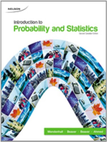 9780176473082: Student Solutions Manual for Use with Introduction to Probability and Statistics, Second Canadian Edition