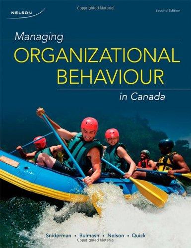 9780176500047: Managing Organizational Behaviour in Canada