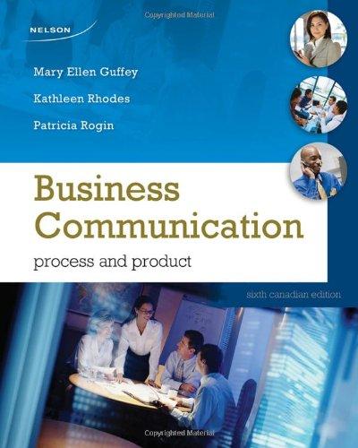 9780176501594: BUSINESS COMMUNICATION >CANADI