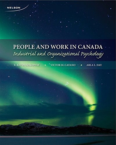 9780176501815: People and Work in Canada: Industrial and Organizational Psychology