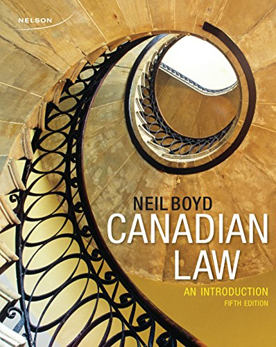 9780176502263: Canadian Law: An Introduction