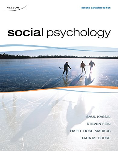 SOCIAL PSYCHOLOGY >CANADIAN<: Steven Fein (Author),