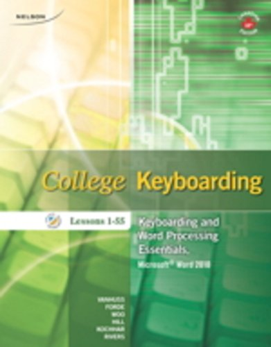 College Keyboarding: Lessons 1-55: VanHuss, Susie H.