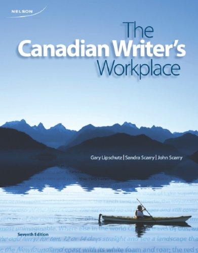 The Canadian Writer's Workplace: Lipschutz, Gary