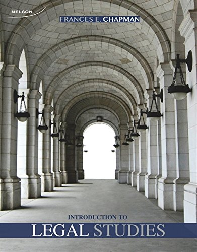 9780176503383: Introduction To Legal Studies, 1st Edition